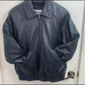 Women's leather jacket in black